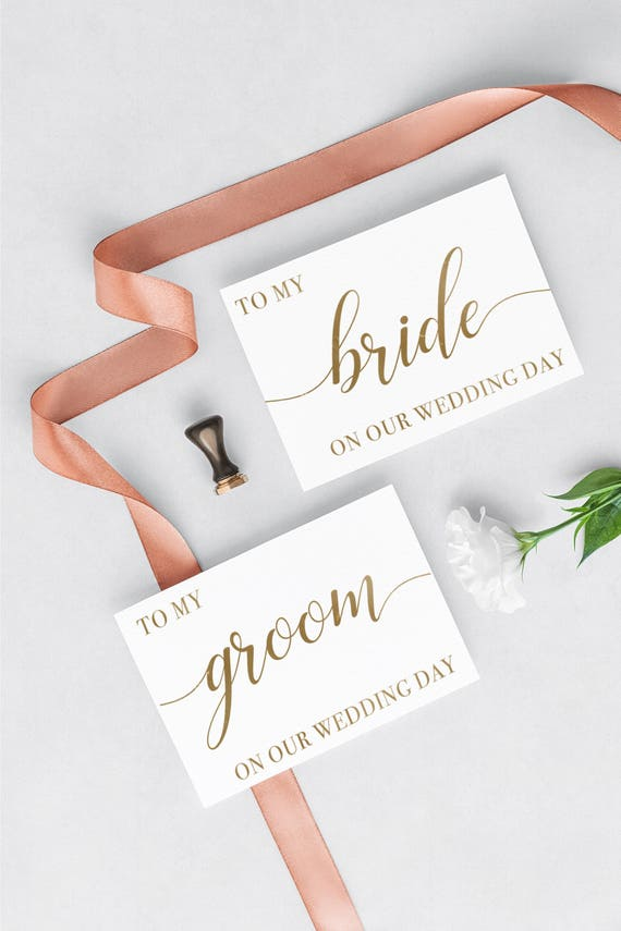 To My Groom Wedding Day Card Diy Printable Card To My Bride Etsy