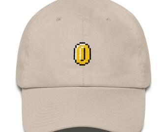 bb038994 Super Mario Bros Coin Nintendo Dad Hat