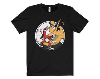 Men's Toejam & Earl/Public Enemy (Flava Flav and Chuck D)/Sega Genesis Fear of a Wack Planet T-Shirt