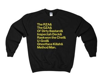 Men's Wu-Tang Clan in Helvetica Hip Hop Typography Sweater Sweatshirt