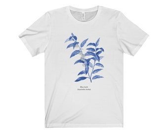 Men's Resident Evil Blue Herb T-Shirt - Common Flora of the Arklay Mountains