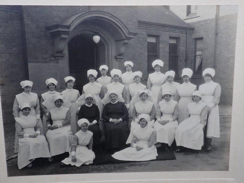 Nursing Photo Medical Nursing Antique Photograph WW1 Hospital Edwardian Nurses Bagthorpe UK Medical Photography Military Hospital