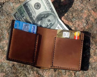Mens wallet Leather wallet Coin purse slim wallet Boyfriend gift for him Mens gift for husband gift personalized men  Son gift coworker gift