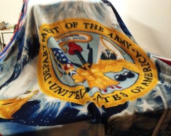 Fleece Army Blanket
