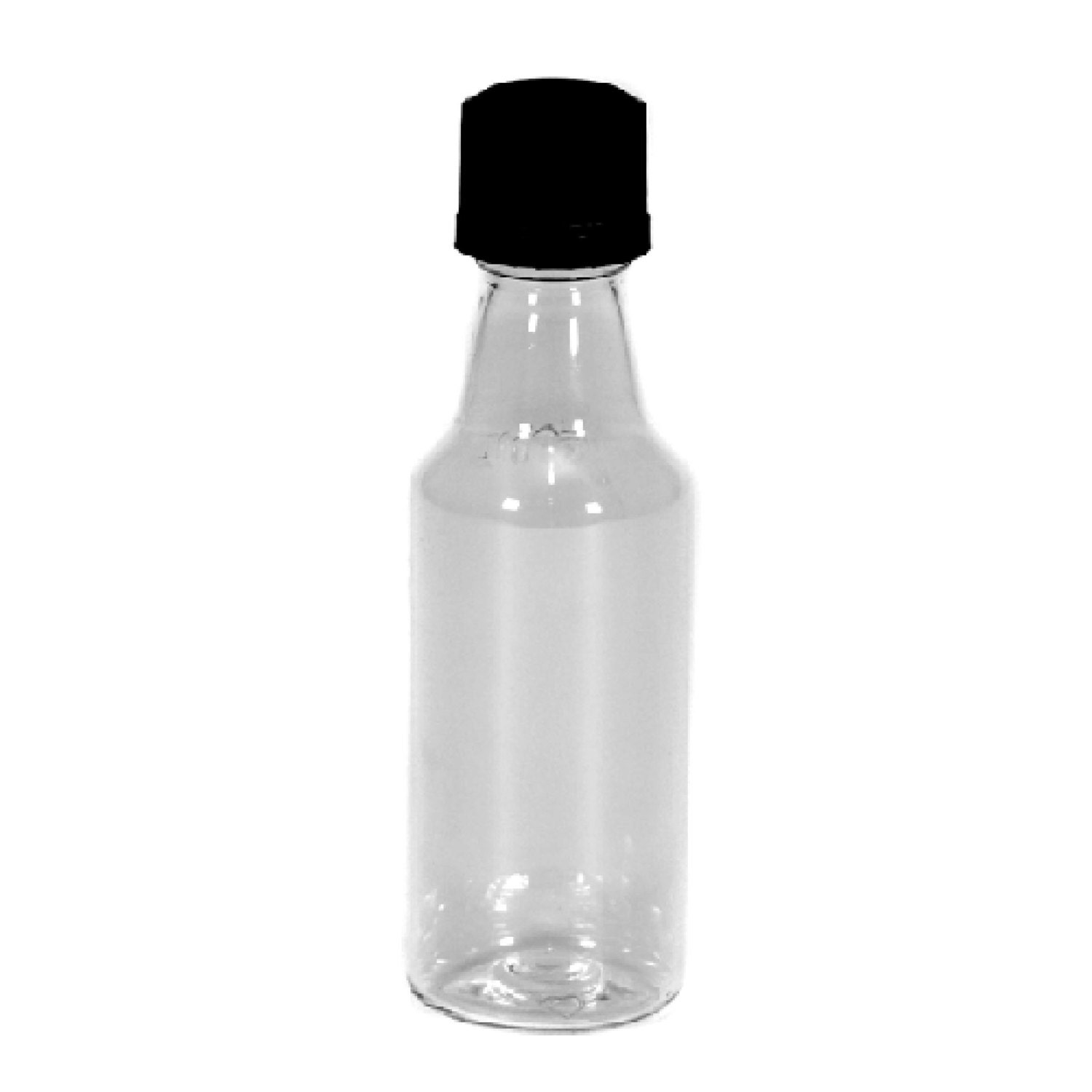 Mini ROUND Plastic Alcohol 50ml Liquor Bottle Shots + WHITE Caps, 12 ...