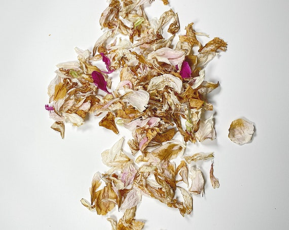 Peony Petals, Potpourri, Dried Petals, Decor, Wedding, Decoration, Filler, Purple, White, Dried Flowers, Pink, Brown, Arts and Craft