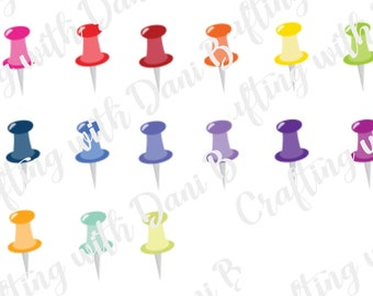 Pushpin Planner Stickers