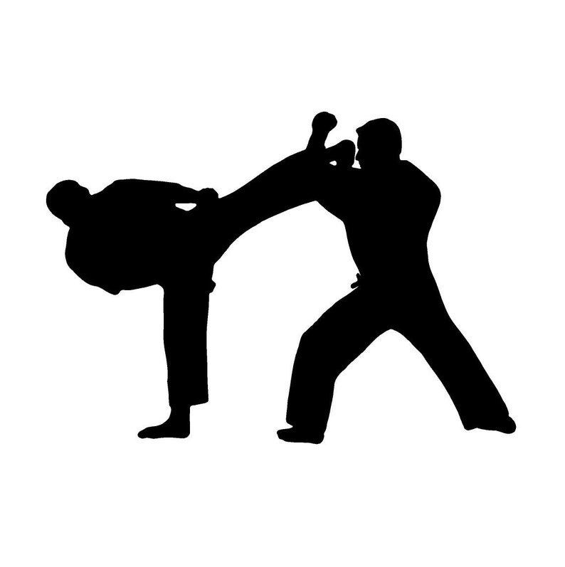 Martial Arts Peel Off stickers for card-making and crafts