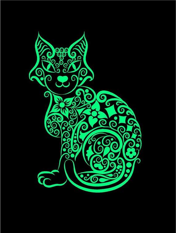 "6/"" I LOVE MY SASSY CAT vinyl decal car truck window laptop sticker kitty"
