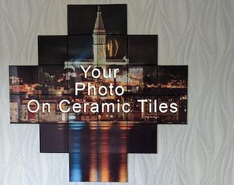 home decor, kitchen tiles, bathroom tiles, Wall art, personalized housewarming gift, mosaic wall art, kitchen wall decor, photo tiles