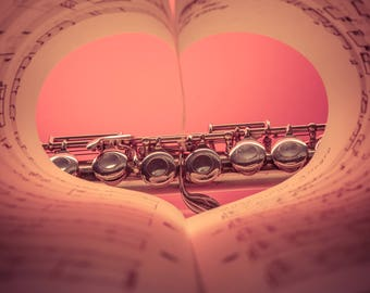 Abstract Heart Photography, heart music, music lover print, abstract heart print download,Valentine's Day gift
