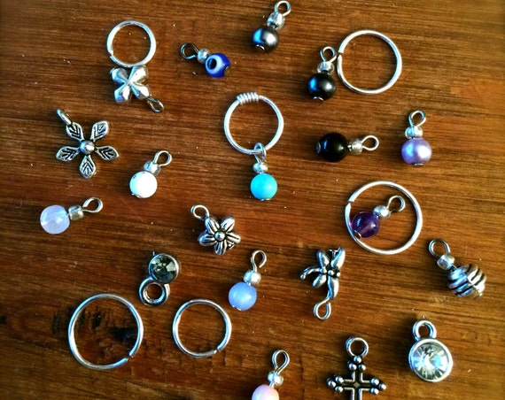 Tiny Silver Cartilage Earring Septum Ring Charm Endless Hoop Tragu Hex Helix Nose Lip Conch Rook Orbit Daith Piercing Sleeper Silver Jewelry