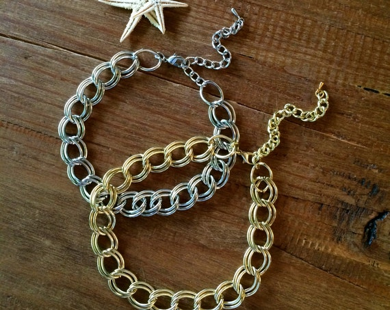 Gold Choker Necklace Silver Choker Chain Choker Chain Link Choker Chain Necklace Layering Necklace Jewelry