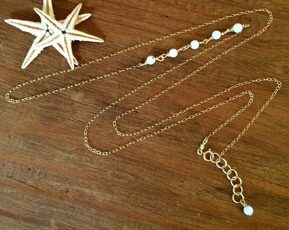Gold Belly Chain Beaded Waist Beads Rose Gold Bikini Chain Sterling Body Jewelry Beach Hip Chain Beach Wedding Bridal Jewelry Gift Woman