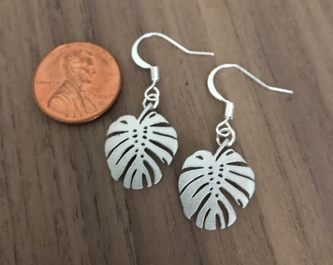 Monstera Leaf Earrings Pendant Necklace Palm Leaf Jewelry Set Silver Gold Rose Gold Choker Bracelet Anklet Tropical Beach Wedding Gifts
