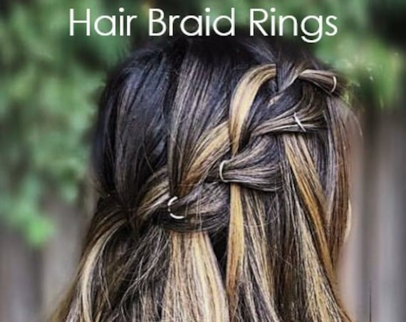 Braid Rings Hair Hoops Hair Accessory Boho Jewelry Bridesmaids Hair Clip Dreadlocks Mermaid Hair Accessories Unique Gift Idea Women