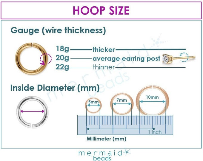 Cartilage Earring Hoop Size Nose Ring Septum Helix Tragus 22g 20g 18g Endless Hoop Earrings Gold Silver Rose Gold Tiny Piercing Rook Conch