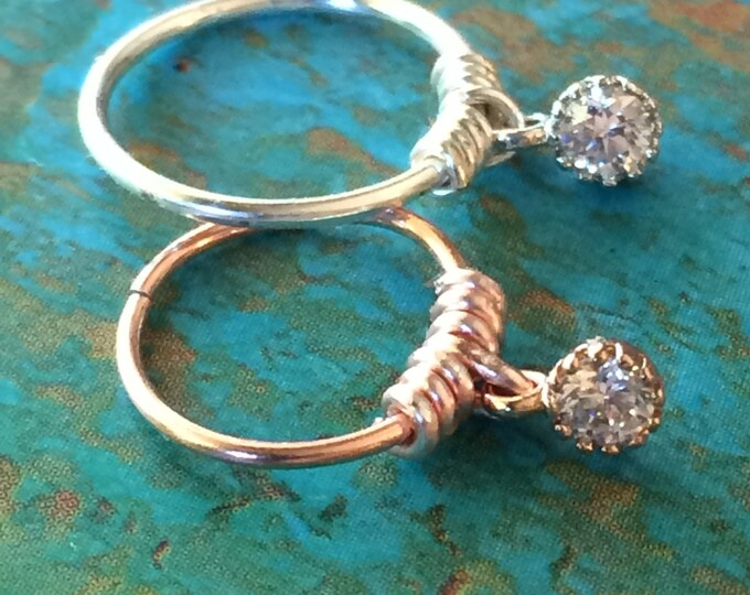 Cartilage Earring Gold Septum Ring Diamond CZ Silver Cartilage Hoop Tragu Hex Helix Nose Lip Conch Rook Orbit Daith Hoop Earring Gift Woman