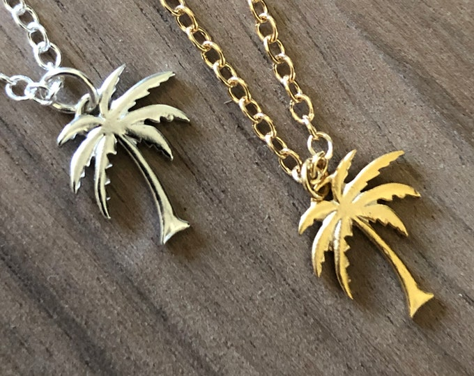 Gold Palm Tree Bracelet Anklet Pendant Necklace Silver Beach Choker Necklace Coconut Tree Earrings Tropical Beach Wedding Bridesmaids Gifts