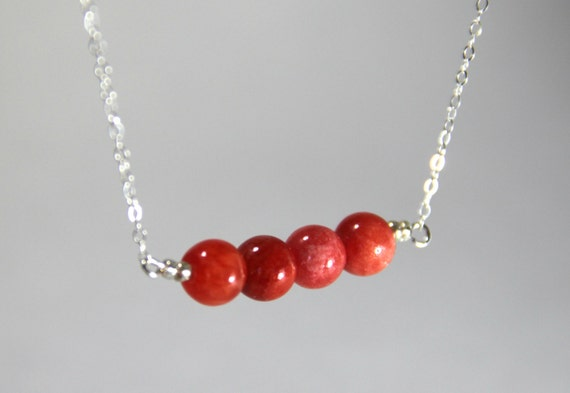 Red Carnelian Pendant Healing Stone Jewelry Beaded Necklace Sterling Silver Chain Chakra Karma Yoga Chi Omega Meaning Gift Alpha Chi Omega