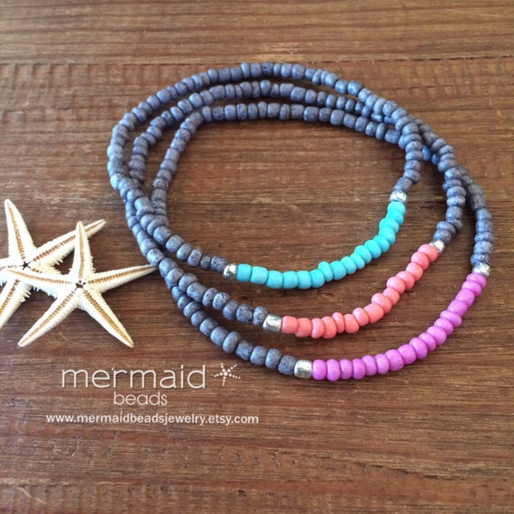 Turquoise Anklet Mothers Day Gift for her under 25 Stretch Bracelet Boho Weddings Party Gifts Beach Bridesmaid Friendship Stack Bracelets