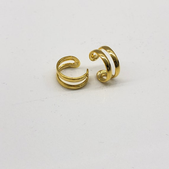 Ear Cuff Gold Double Hoop Ear Wrap Fake Piercing Jewelry Accessory Mothers Day gift Summer Jewelry