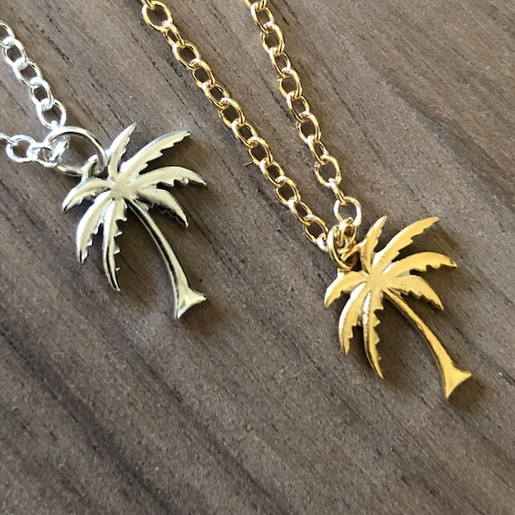 Gold Palm Tree Bracelet Anklet Pendant Necklace  Silver Beach Choker Necklace Earrings Tropical Beach Wedding Bridesmaids Summer Jewelry