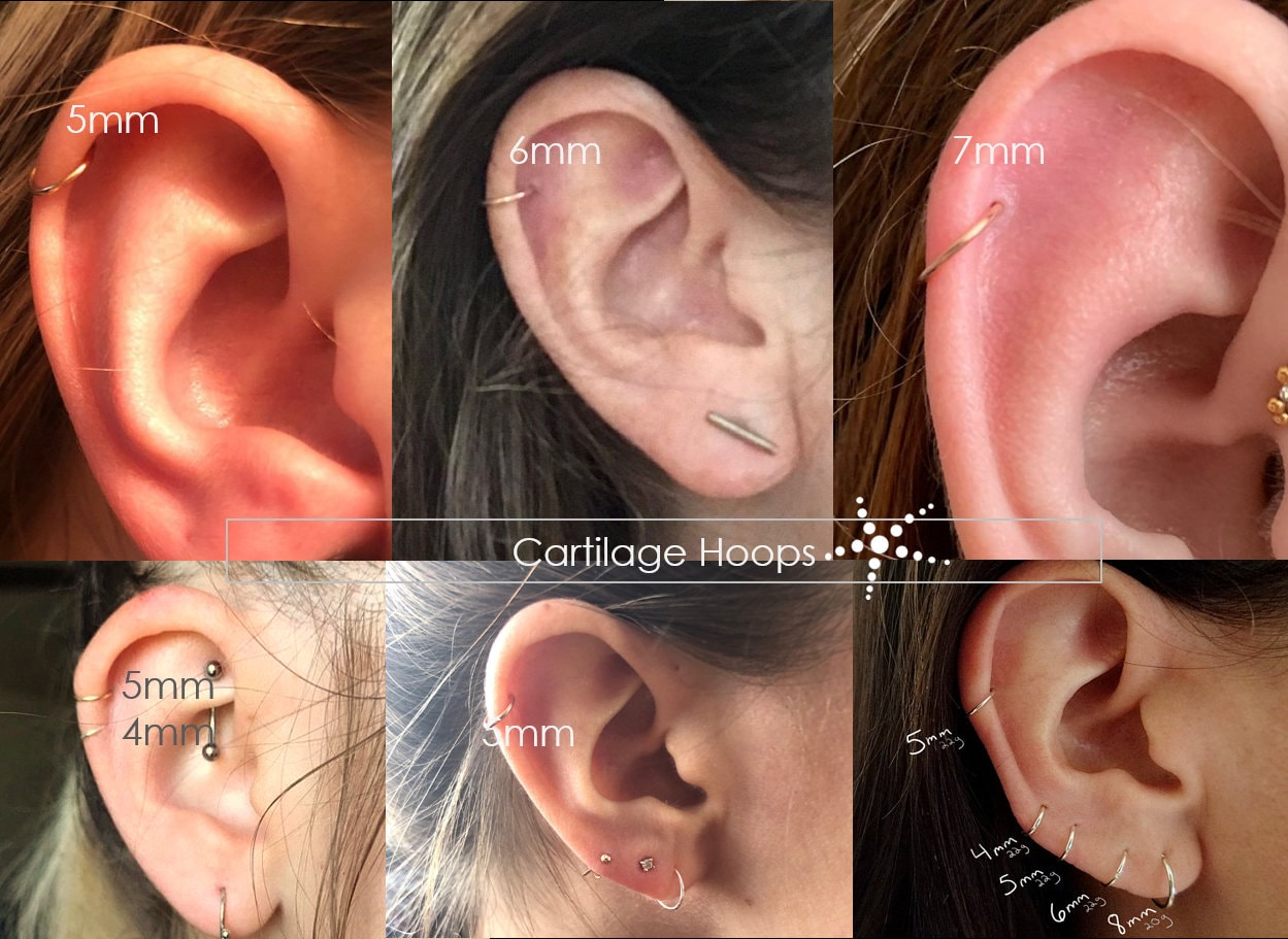 Very Tiny Gold Hoop 4mm 5mm 6mm 14K Gold Filled Cartilage Hoop Thin Small Gold Helix Hoop 22 Gauge Gold Tiny Endless Hoop 6mm 5mm 4mm