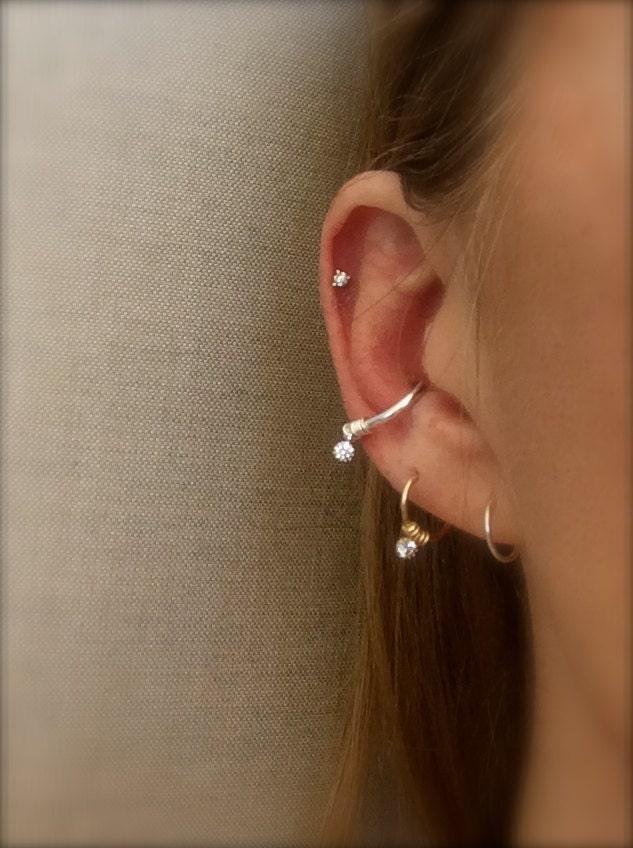 Hoop Earring Conch Hoop Cartilage Earrings Septum Ring Diamond