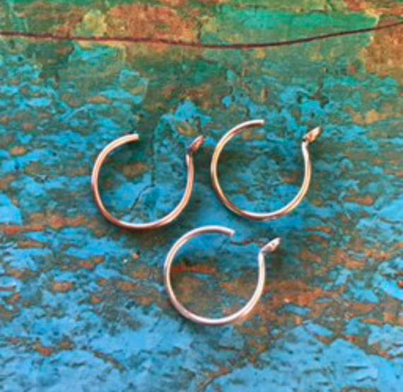 Fake Nose Ring Sterling Silver Fake Lip Ring Gold Faux Nose Ring Rose Gold Faux Lip Hoop Sexy Gift Festival Jewelry Bohemian Unisex Gifts