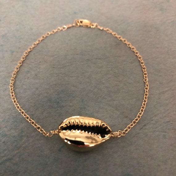 Gold Shell Bracelet Pendant Necklace  Gold Silver Rose Gold Choker Necklace Seashell Earrings Beach Lover Beach Wedding Gift Summer Jewelry