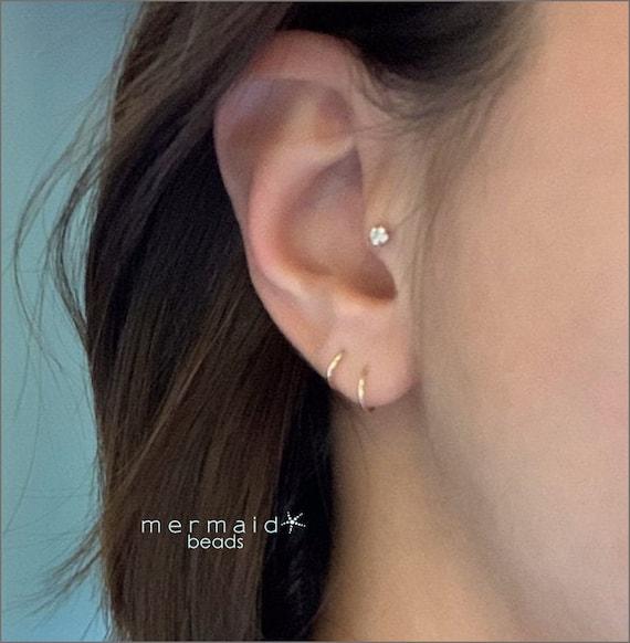 Cartilage Hoop 2nd Piercing 3rd Hole Rose Gold Nose Ring Septum Ring Helix Hoop Tragus Earring Conch Orbital 18g 20g 22g Rose Gold Nose Hoop