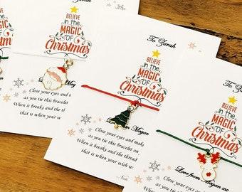 Christmas wish bracelet, Christmas bracelet, teacher thank you gift, Christmas gift, stocking filler, stocking stuffer, secret santa, funny
