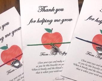 Teacher wish bracelet, Teacher gifts, Teacher thank you gifts, Special teacher, Personalised teacher gift, Personalized teacher gift