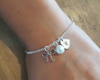 Tie the knot, tie the knot bracelet, Personalised bridesmaid bracelet, Personalized bridesmaid bracelet, Bridesmaid jewellery, Bridesmaid