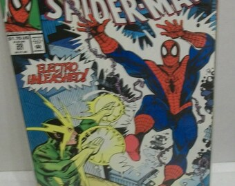 bf024e8a Spider-Man #39 October Electro Unleashed VG-VF Unread Vintage Direct  Edition Marvel Comic Book 1993
