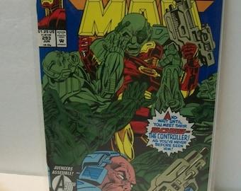 Iron Man #293  The Controller  Very Good Condition  Vintage Comic Book 1993 Marvel Comics