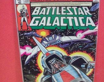 Marvel Comics BattleStar Galactica  #4  Dogfight  40 Cent Newstand Cover  VF-NM Lorne Greene TV Show Vintage Comic Book 1979