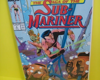 Vintage Comic Book Namor The Saga of The Sub-Mariner #2 The Avenging Son 2 of 12 Issue Limited Series  VF-NM  Unread 1988 Marvel Comic Book