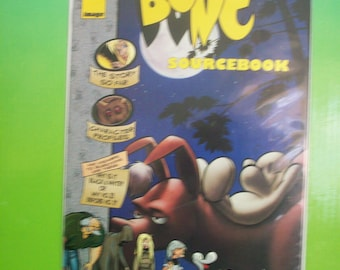 Vintage Comic Book  Bone Sourcebook 1995 Image Comic VF-NM Jeff Smith  Character Profiles, Questions And Answers  Great Gift Idea