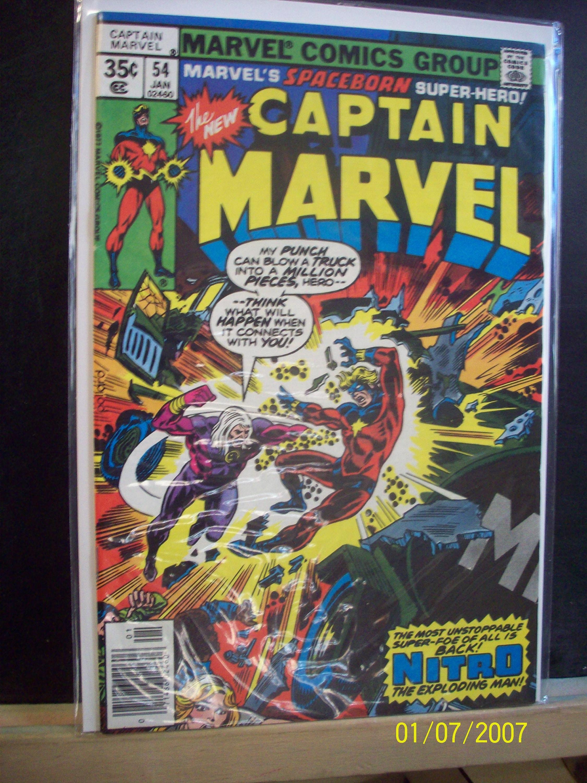 Captain Marvel 20 Nitro The Exploding Man VF MN Cond Vintage Comic Book  20 Marvel Comics Great Gift Idea