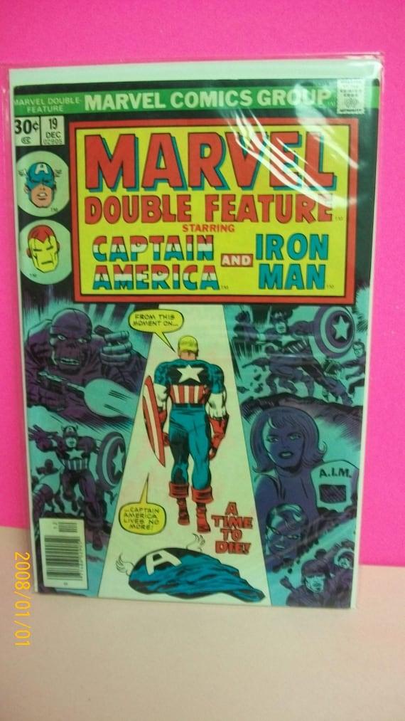 MARVEL DOUBLE FEATURE #4 JUNE 1974 CAPTAIN AMERICA /& IRON-MAN