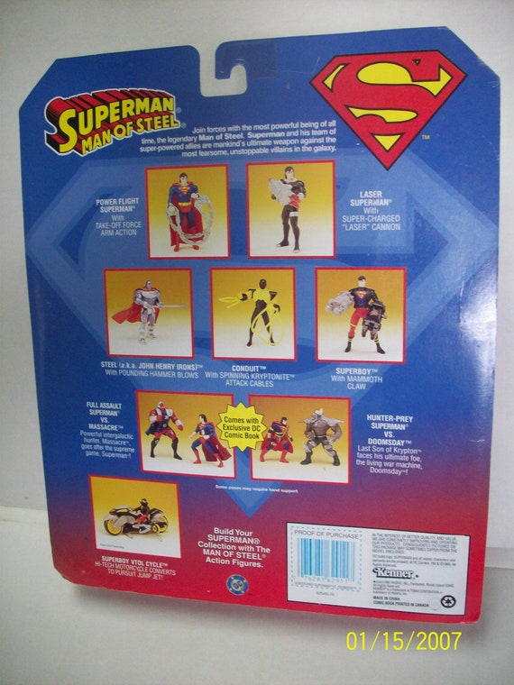Superman And Massacre Action Figures 2 Pack New In Pkg With DC Comics Exclusive Comic Book 1995 Kenner Toys Great Gift Idea Vintage Toys