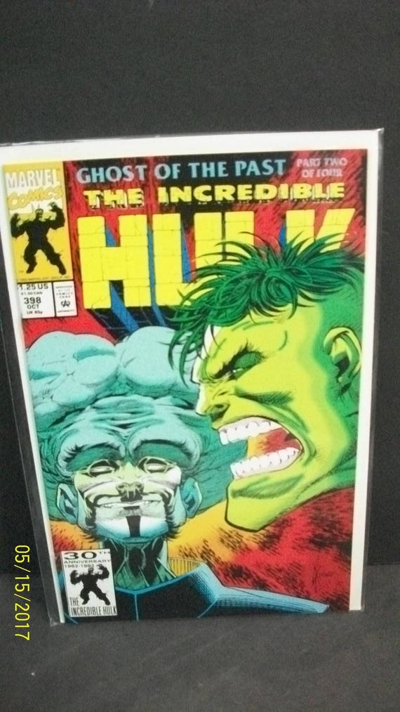 Incredible Hulk #398 Ghost of the Past Comic Marvel Comics VF