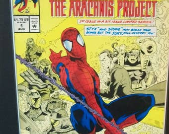 Spider-man The Arachnis Project #1  Styx And Stone 1 of 6 Issue Limited Series  VF-NM Unread Vintage Marvel Comic Book 1994  Great Gift Idea