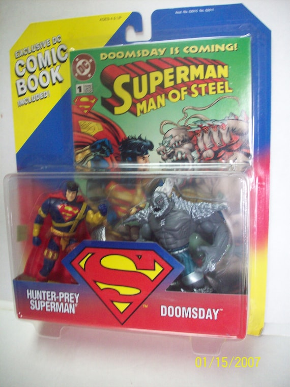 Superman And Doomsday Action Figures 2 Pack New In Pkg With Etsy