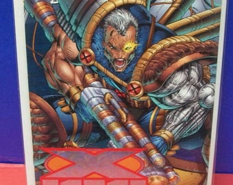 X-Force #50 Rob Liefeld Variant Wrap Around Cover Target Cable  VF-NM  Vintage Marvel Comic Book X-Men Anniversary Issue 1996 Great Gift