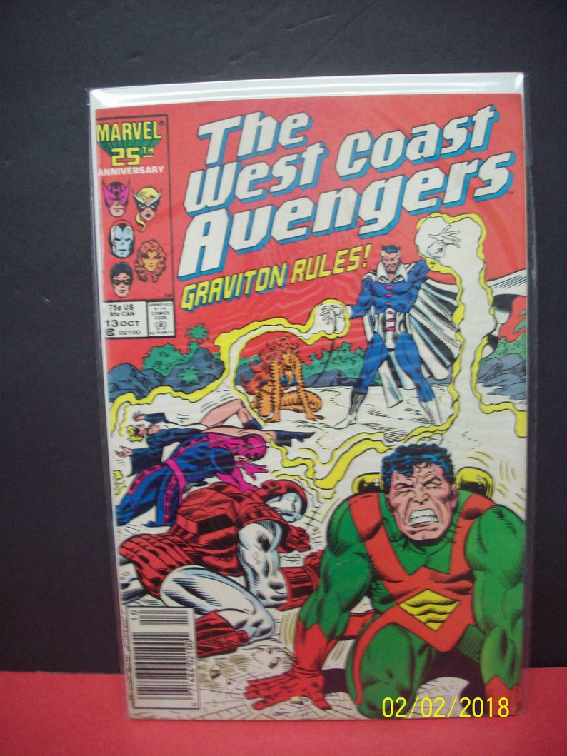 Avengers West Coast 1985 series # 49 very fine comic book