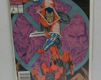 Vintage Comic Book X-Force #2 Kane vs Deadpool 2nd Appearance Deadpool  Rob Liefeld VF-NM Unread 1991 Marvel Comics Rare Issue