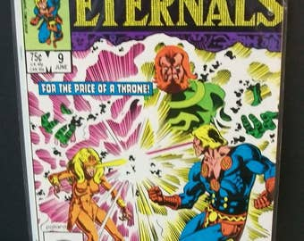 1985 The Eternals  (2nd Series) #9 Of 12 Issue Limited Series  For The Price Of A Throne VG-VF Condition Vintage Marvel Comic Book